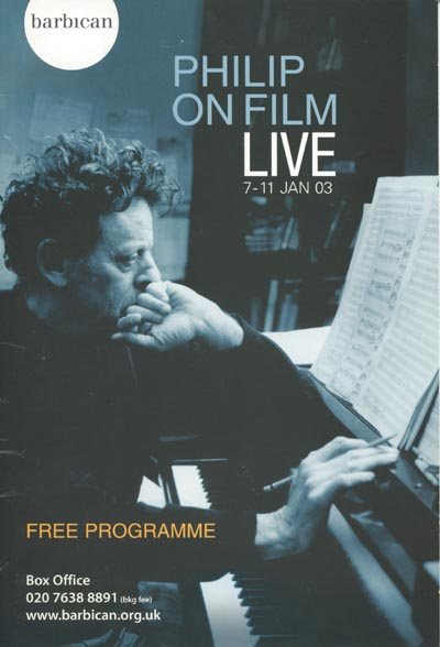 Philip Glass programme